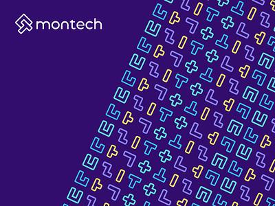 Montech - Pattern Design logomark branding identity design typography pattern design logo mark logo love logo design brand identity logo design
