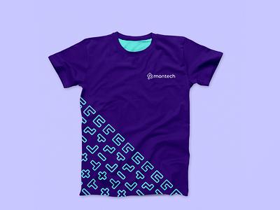 Montech - Clothing logomark graphic design identity designer logo tech logo startup identity design branding logo design brand identity design