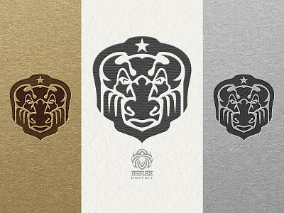 Mighty Bull Logo2 vector design animal logotype identity brand logo strong powerful shield strength bull