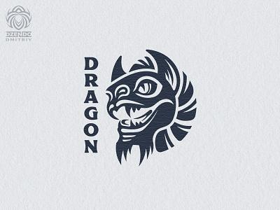 The Dragon Logo branding beautiful design logotype identity brand logo fairy tale myth mythology monster head dragon