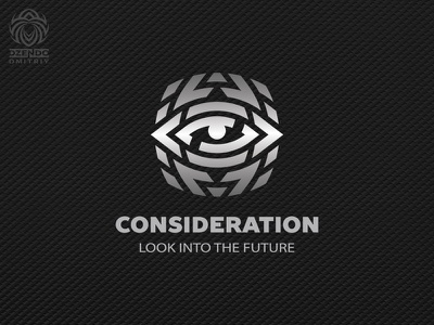 Look Into The Future Logo vector branding beautiful design logotype identity brand logo technology future view eye