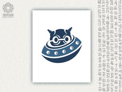 Alien And Ufo Logo
