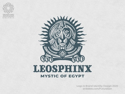 Lion Sphinx logo animal branding beautiful design logotype brand logo mysticism beast lion