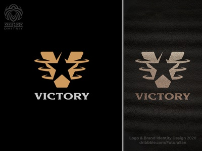 Victory logo design branding identity logotype brand logo star triumph company winner victory