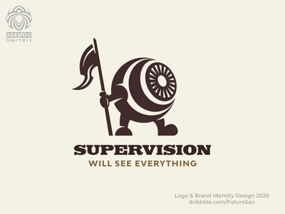 Supervision logo identity design logotype branding beautiful brand logo flag best winner control observe look eyes