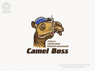 Camel Boss logo animal beautiful identity logotype brand branding logo charming fashionable stylish boss cool cigar camel
