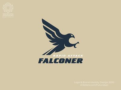 Falcon attack logo buy logo branding beautiful design identity logotype brand logo hunter bird attack