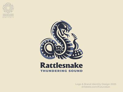 Rattlesnake logo design animal beautiful buy logo branding logotype brand logo reptiles rattlesnake snake