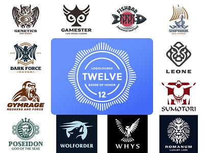 Logolounge LogoBook12 WIN logotype branding design identity brand logo honor achievement award competition victory