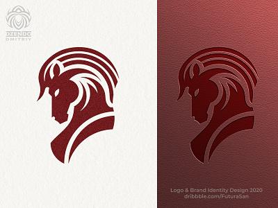 Red Horse Logo animal buy logo beautiful design identity brand logo branding solid red style horse