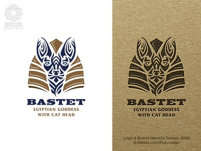 Egyptian cat logo design beautiful animal buy logo brand logo branding sphinx goddess cat