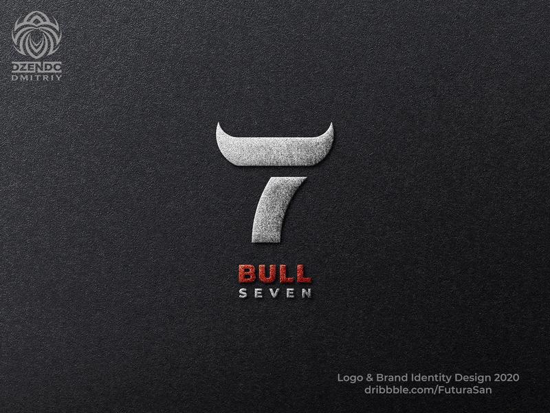 Bull seven logo beautiful design identity logotype brand logo branding cool modern fashionable style seven bull