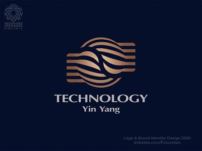 Yin Yang Logo symbol identity buy logo beautiful brand design logo branding lines future technology