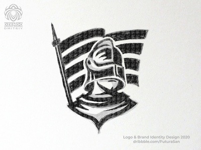 Warrior gladiator logo brand logotype beautiful design logo branding sketch flag victory warrior