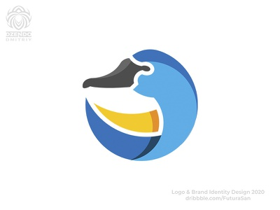 Swan logo logotype buy logo animal beautiful design logo branding bird goose