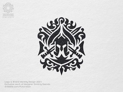Spartan Heraldry Logo logotype buy logo design identity beautiful logo branding spartan sword helmet warrior heraldry sparta