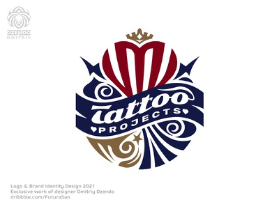 Tattoo projects logo identity brand beautiful buy logo design logo branding heraldry ideas energy fashion creative crown heart