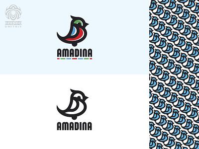 Amadina Bird logo logotype buy logo identity design brand logo animal beautiful branding chick small bird