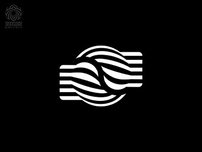 Abstract yin yang symbol logo design branding lines yin yang abstraction