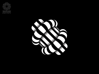 Abstract three dimensional shape design logo beautiful branding fashionable stylish 3d three-dimensional lines abstract