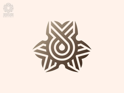 The central desire of the logo logo design beautiful branding desire flower abstraction