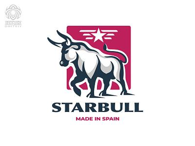 StarBull logo animal logotype brand logo branding bullfight star bull