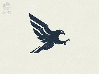 Falcon attack logo animal logo branding bird design logo order logo hawk falcon