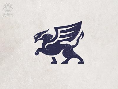 Predator with wings logo logotype buy logo animal logo branding panther tiger winged beast predator
