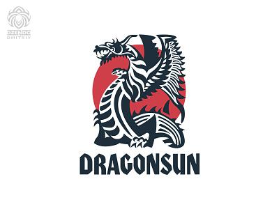 Dragonsun logo buy logo beautiful logo branding sun dragon
