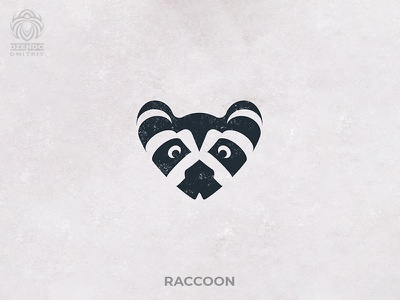 Raccoon logotype buy logo logo branding animal coon raccoon