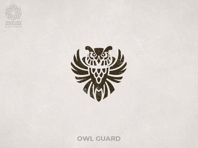 Owl Guard logo buy logo logo branding logo designer bird security guard owl