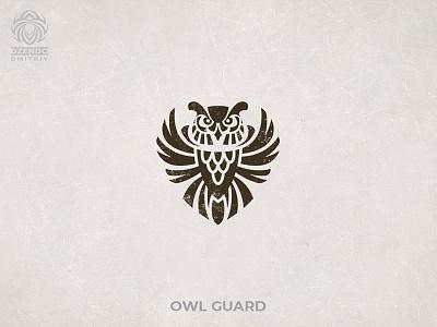 Owl Guard logo buy logo logo branding logo designer bird security guard owl