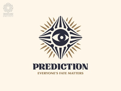 Prediction logo buy logo design brand logo branding divination magic radiance eye