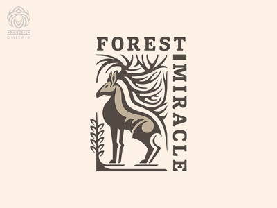 Forest miracle logo buy logo brand animal design logo beautiful branding antlers deer