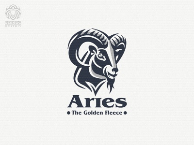 Aries logo sheep mountain ram animal logotype logo branding