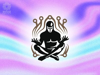 Crypto Meditation Logo logotype logo branding