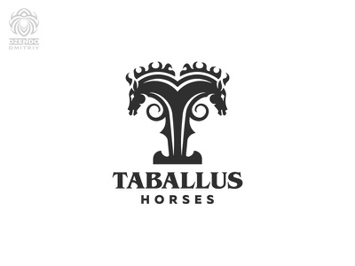 T-Horse logo animal two horses horse logotype identity design brand branding logo