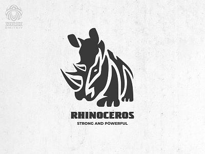 Rhinoceros Logo safari animal rhino rhinoceros branding logo