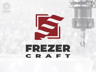 Frezer Craft company logo order logo business machine artistic cutting milling drill brand logotype branding logo