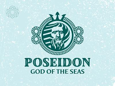 Poseidon The God Of The Seas logo ocean sea neptune poseidon