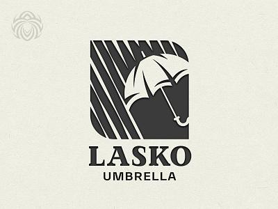 Logo Lasko Umbrella Protects From The Weather black vector symbol branding design beautiful buy logo logotype identity brand logo rain bad weather umbrella