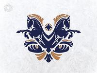 Double Horse Heraldic Logo