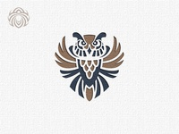 Logo Of A Beautiful Wise Owl