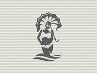 Girl With Umbrella On The Sea Logo