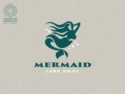 Beautiful Mermaid Logo vector branding design beautiful buy logo logotype identity brand logo mystic tail fin ocean sea water siren mermaid