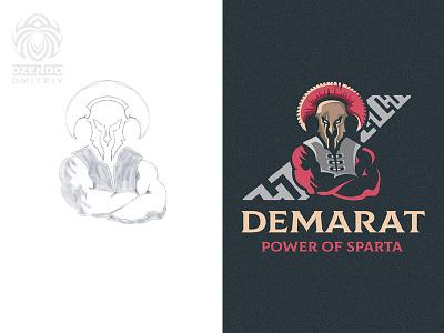 Demart sparta logo and sketch warrior vector spartan spartacus sparta powerful logotype logo king identity design buy logo branding brand beautiful