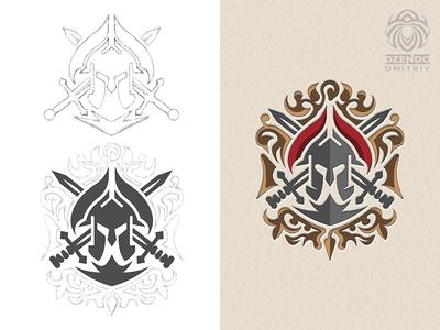 Spartan logo heraldry s
