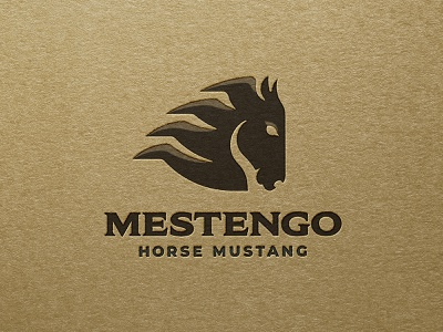 Mustang horse logo animal branding design beautiful logotype identity brand logo wild steed horse
