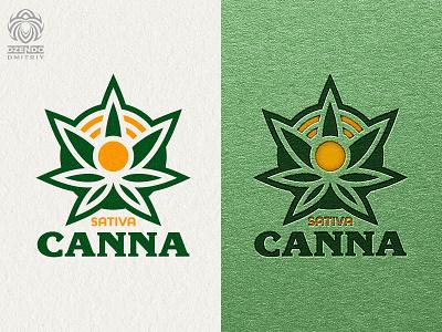 Sativa Canna logo vector branding design beautiful logotype identity brand logo sativa plant marijuana cannabis