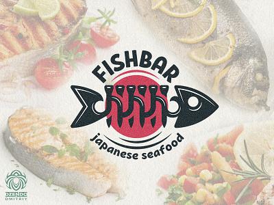 Fish Bar logo beautiful vector branding design logotype identity brand logo ocean sea food restaurant fish